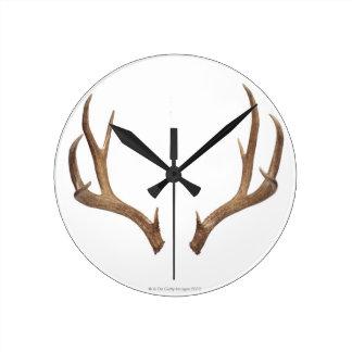 Ten Point Deer Round Clock