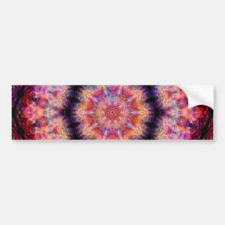 Ten Pointed Radial Colorful Kaleidoscope Bumper Sticker