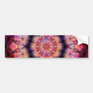 Ten Pointed Radial Colorful Kaleidoscope Car Bumper Sticker