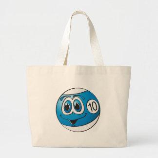 Ten Pool Ball Cartoon Canvas Bags