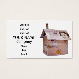 Ten pound house business card