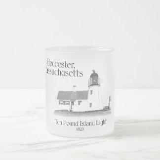Ten Pound Island Light - Massachusetts Frosted Glass Mug