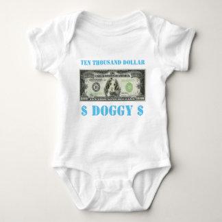 Ten Thousand Dollar Doggy Baby Grow Baby Bodysuit