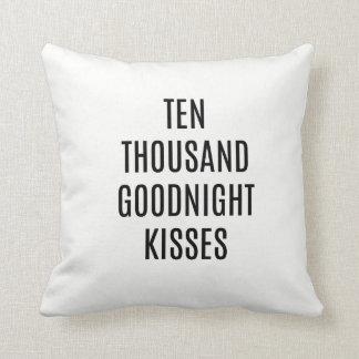 Ten Thousand Kisses Goodnight Throw PIllow