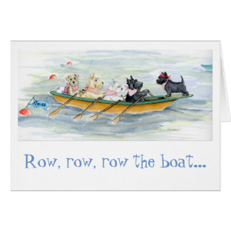 Tenacious Terrier Rowing Team note card