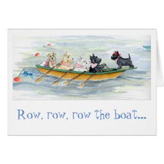 Tenacious Terrier Rowing Team note card