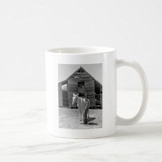 Tenant Farmer's Mule, 1930s Basic White Mug