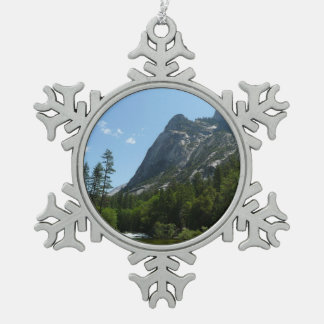 Tenaya Creek in Yosemite National Park Pewter Snowflake Decoration