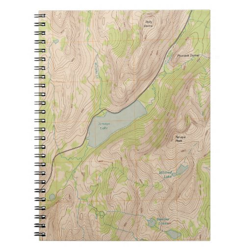 Tenaya Lake, Yosemite Topographic Map Spiral Notebooks