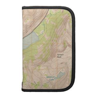 Tenaya Lake Yosemite Topographic Map Organizer
