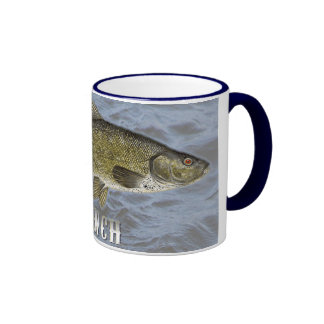 Tench Freshwater Fish, With Water Background Image Ringer Mug