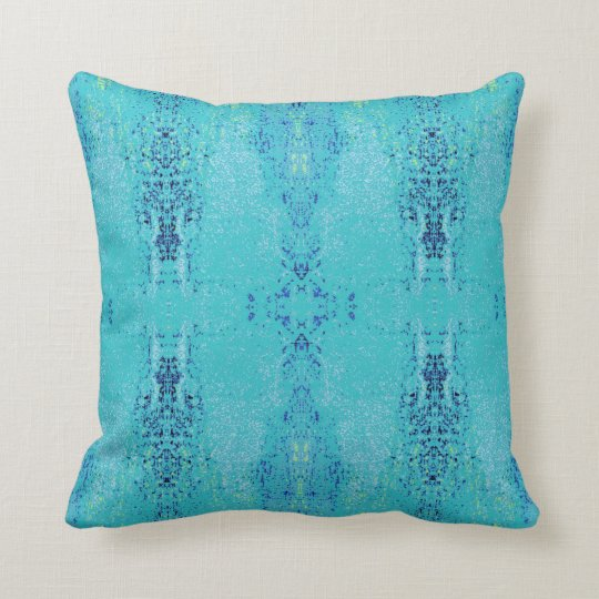 'Tendency' Teal Pattern Throw Pillow