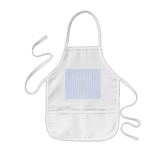 Tender Baby Blue Pale Sky Blue and White Stripe Kids Apron