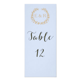 Tender Baby Blue Pale Sky Pastel Blue Wreath/Sprig 10 Cm X 24 Cm Invitation Card