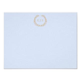Tender Baby Blue Pale Sky Pastel Blue Wreath/Sprig 11 Cm X 14 Cm Invitation Card