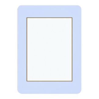 Tender Baby Blue Sky Blue Pastel for Summer Gazebo 11 Cm X 16 Cm Invitation Card