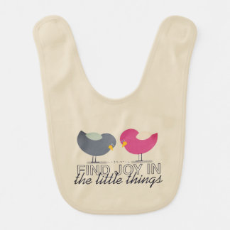Tender Cute Baby Girl Birds Sweet Beautiful Simple Bib