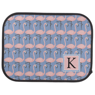 Tender Flamingo Pattern | Monogram Car Mat