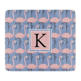 Tender Flamingo Pattern | Monogram Cutting Board