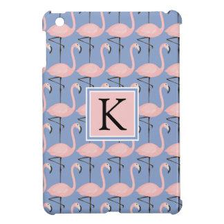 Tender Flamingo Pattern | Monogram iPad Mini Covers
