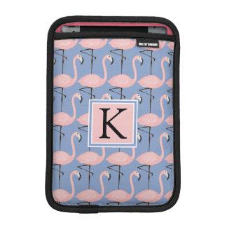 Tender Flamingo Pattern | Monogram iPad Mini Sleeve