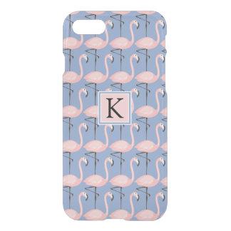 Tender Flamingo Pattern | Monogram iPhone 8/7 Case