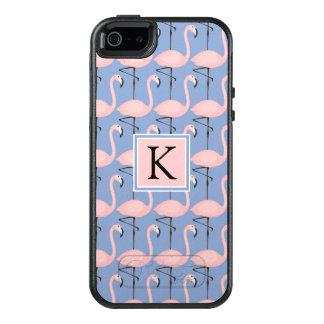 Tender Flamingo Pattern | Monogram OtterBox iPhone 5/5s/SE Case