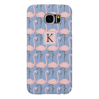 Tender Flamingo Pattern | Monogram Samsung Galaxy S6 Cases