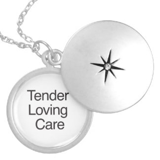 Tender Loving Care Round Locket Necklace