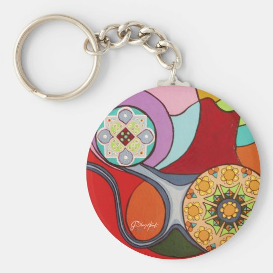 Tender Seed Basic Round Button Key Ring