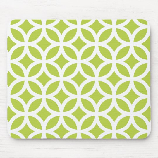 Tender Shoots Green Geometric Mouse Mat