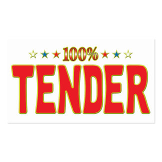 Tender Star Tag Business Cards