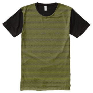 Tender stripes olive green + your & ideas All-Over print T-Shirt