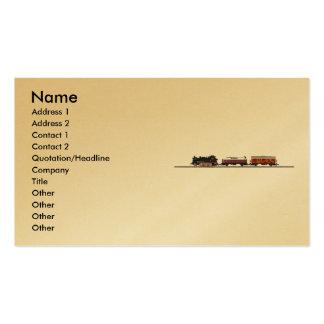 Tenderlokomotive Profile Card Business Card