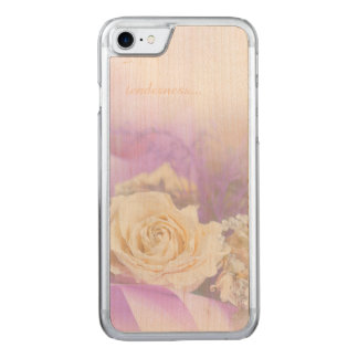 Tenderness of Tea-Rose for iPhone 6/6s Slim Maple Carved iPhone 8/7 Case