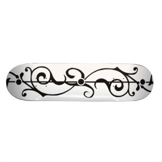 Tendrillon Ivory (Charcoal) Skateboard Deck