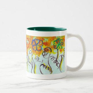 Tendrils Two-Tone Coffee Mug