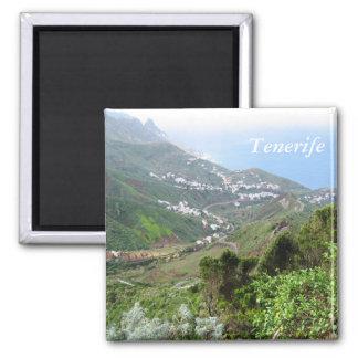 Tenerife 10 square magnet