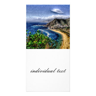 Tenerife 12 effect personalized photo card