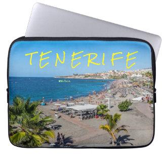 Tenerife beach view laptop sleeve