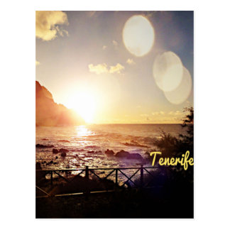 Tenerife Evening Lights Postcard