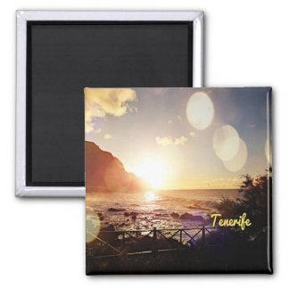 Tenerife,Evening Lights Square Magnet