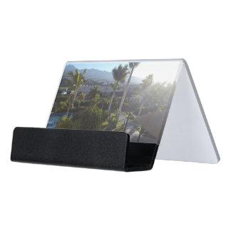 Tenerife Landscape Desk Business Card Holder