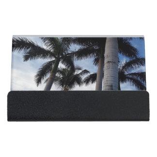 Tenerife Palm Trees Desk Business Card Holder