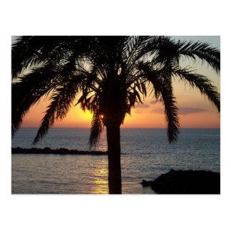 Tenerife sunset postcard