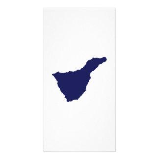 Teneriffa map photo card template