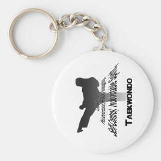 Tenets of Tae Kwon Do Keychain