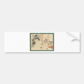 Tengu Dance circa 1898 Car Bumper Sticker