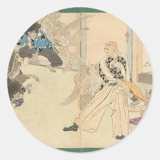 Tengu Dance circa 1898 Round Sticker