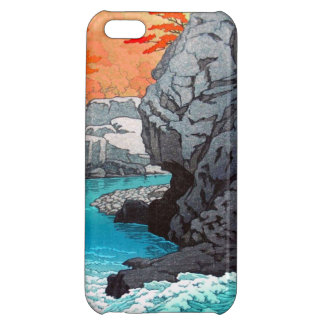 Tengu Rock Hasui Kawase river shn hanga scenery iPhone 5C Cases